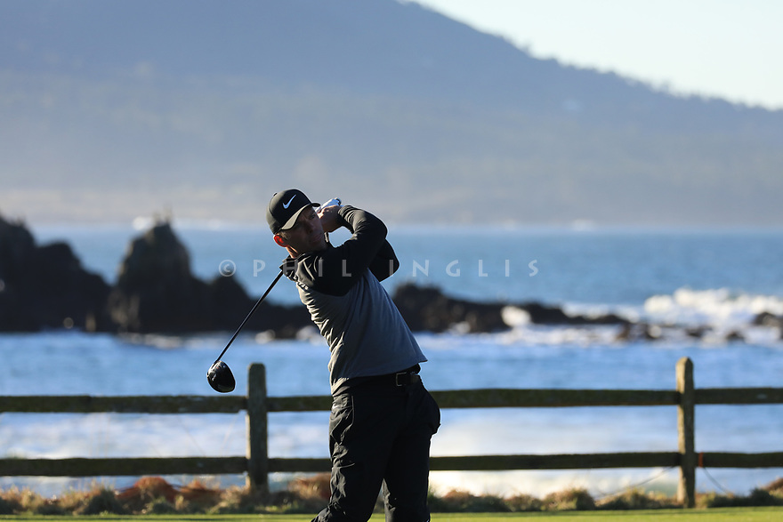 Paul Casey (ENG) during the final round of the AT&T Pro-Am , Pebble Beach Golf Links, Monterey, USA. 11/02/2019<br /> Picture: Golffile | Phil Inglis<br /> <br /> <br /> All photo usage must carry mandatory copyright credit (© Golffile | Phil Inglis)
