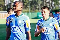 SÃO PAULO, 13 DE MAIO 2013 - TREINO PALMEIRAS -  Os Jogadores do Palmeiras André Luiz(e) e Ayrton(d) durante treino na Academia de Futebol, na tarde desta segunda-feira(13) - FOTO: LOLA OLIVEIRA/BRAZIL PHOTO PRESS
