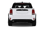 Straight rear view of 2017 MINI Countryman - 5 Door Hatchback Rear View  stock images