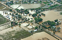 Flooding of Boulder Creek and St Vrain River.  Rd 20 1/2 and Rd 7.  Idaho Creek, Colorado