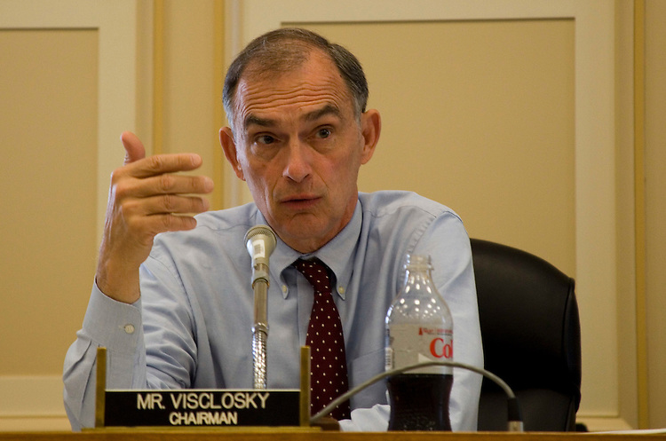 WASHINGTON, DC - June 16: Chairman of the Congressional Steel Caucus, Rep. Peter J. Visclosky (D-Ind.), during a hearing on stabilizing the domestic steel industry. (Photo by Ryan Kelly/Congressional Quarterly)