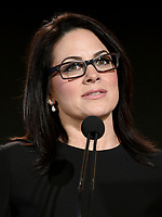 PASADENA - JANUARY 13: CEO National Geographic Global Networks Courteney Monroe during the NATIONAL GEOGRAPHIC portion of the 2018 Winter TCA Press Tour at the Langham Huntington Hotel on January 13, 2018, in Pasadena, California. (Photo by Frank Micelotta/National Geographic/PictureGroup)