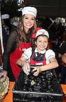 Los Angeles, CA - NOVEMBER 23: Estela Ines Monteverde, Ali Landry, At Los Angeles Mission Thanksgiving Meal For The Homeless At Los Angeles Mission, California on November 23, 2016. Credit: Faye Sadou/MediaPunch