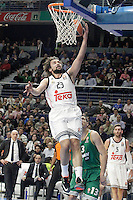 Real Madrid's Sergio Llull during Euroleague match.January 22,2015. (ALTERPHOTOS/Acero) /NortePhoto<br />