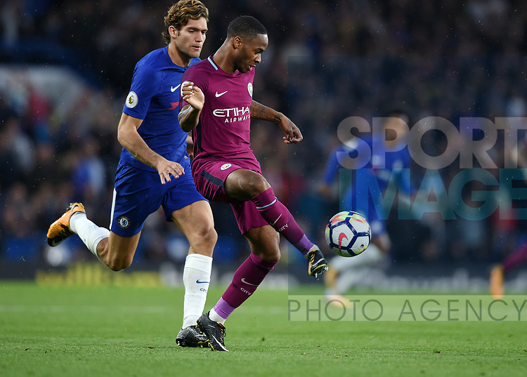 Fernandinho of Manchester City during the premier league match at the Stamford Bridge stadium, London. Picture date 30th September 2017. Picture credit should read: Robin Parker/Sportimage
