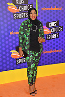 Ibtihaj Muhammad at the Nickelodeon Kids' Choice Sports Awards 2018 at Barker Hangar, Santa Monica, USA 19 July 2018<br /> Picture: Paul Smith/Featureflash/SilverHub 0208 004 5359 sales@silverhubmedia.com