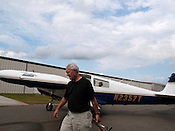 May 13, 2009. Sanford, NC..Flying with Charles Boss, a retired chemistry professor from NC State, around Chatham, Durham and Lee counties from the Sanford- Lee County Regional Airport.