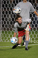 14 September 2007: Stanford Cardinal Kira Maker during Stanford's 3-2 win in the Stanford Invitational against the Missouri Tigers at Maloney Field in Stanford, CA.