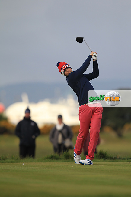 Andrew McCormack (Castletroy) on the 3rd tee during Round 1 of the Flogas Irish Amateur Open Championship at Royal Dublin on Thursday 5th May 2016.<br /> Picture:  Thos Caffrey / www.golffile.ie
