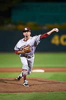 Frisco RoughRiders pitcher Cody Ege (19) delivers a pitch during a game against the Springfield Cardinals  on June 4, 2015 at Hammons Field in Springfield, Missouri.  Frisco defeated Springfield 8-7.  (Mike Janes/Four Seam Images)