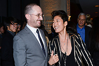 "NEW YORK CITY - MARCH 14: Darren Aronofsky and JiHAE attend National Geographic's ""One Strange Rock"" screening and Q&A at Alice Tully Hall at Lincoln Center on March 14, 2018 in New York City. (Photo by Anthony Behar/NatGeo/PictureGroup)"