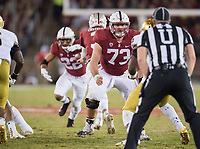 Stanford, Ca. - November 25, 2017: The Stanford Cardinal vs the Notre Dame Irish at Stanford Stadium. Final score Stanford Cardinal 38, Notre Dame Irish 20. Stanford wins the PAC-12 North.