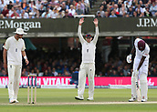 9th September 2017, Lords Cricket Ground, London, England; International test match series, third test, Day 3; England versus West Indies; England Captain Joe Root arranges his fields between overs