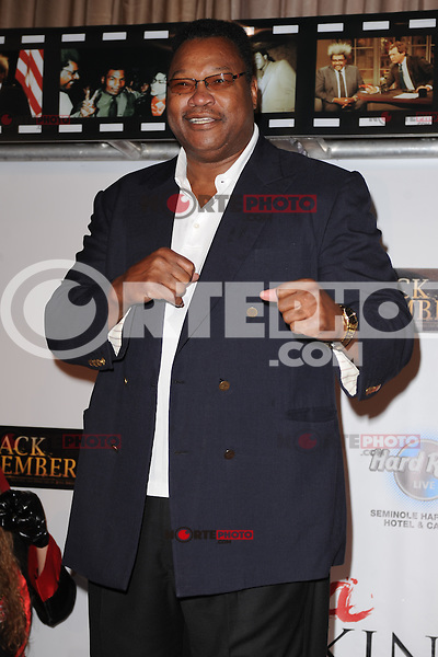 HOLLYWOOD FL - JUNE 22 : Larry Holmes arrives during Don King's 80th birthday celebration at Hard Rock live held at the Seminole Hard Rock Hotel & Casino on June 22, 2012 in Hollywood, Florida. © mpi04/MediaPunch Inc NORTEPHOTO.COM<br />