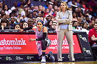 Washington, DC - May 27, 2018: Minnesota Lynx head coach Cheryl Reeve and Maya Moore (23) watch the action from the sideline during game between the Mystics and Lynx at the Capital One Arena in Washington, DC. (Photo by Phil Peters/Media Images International)