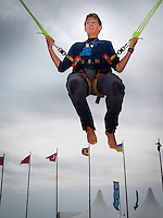 Nakora Anderson from the USA while Rope Jumping