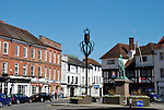 Market Place in Romsey, Hampshire, England