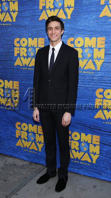 Gideon Gick attends the Broadway Opening Night performance for 'Come From Away' at the Gerald Schoenfeld Theatre on March 12, 2017 in New York City.
