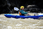 Alpine Quest Sports crashing Cable rapid while kayaking the Upper Colorado River from Rancho Del Rio to State Bridge on the morning of July 31, 2014.