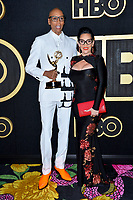 LOS ANGELES, CA. September 17, 2018: RuPaul &amp; Michelle Visage at The HBO Emmy Party at the Pacific Design Centre.<br /> Picture: Paul Smith/Featureflash
