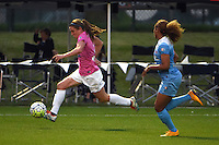 Kansas City, MO - Friday May 13, 2016: FC Kansas City midfielder Heather O'Reilly (9) against Chicago Red Stars defender Casey Short (6) during a regular season National Women's Soccer League (NWSL) match at Swope Soccer Village.