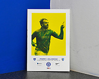 Brett Pitman of Portsmouth on the front of the match day programme during Portsmouth vs Gillingham, Sky Bet EFL League 1 Football at Fratton Park on 12th October 2019