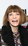 """Anna Wintour attends the """"Sea Wall / A Life"""" opening night at The Public Theater on February 14, 2019, in New York City."""