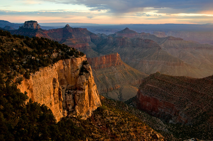 Sunrise from the backcountry campsite at Cape Final on the North Rim of Grand Canyon.