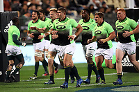 The Springboks warm up before the Rugby Championship match between the New Zealand All Blacks and South Africa Springboks at QBE Stadium in Albany, Auckland, New Zealand on Saturday, 16 September 2017. Photo: Shane Wenzlick / lintottphoto.co.nz