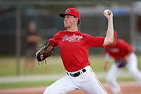 Holden Laws (42) while playing for Rawlings National Scout Team based out of Merrick, New York during the WWBA World Championship at the Roger Dean Complex on October 21, 2017 in Jupiter, Florida.  Holden Laws pitcher / first baseman from Creedmoor, North Carolina who attends South Granville High Of Business And Global Commun.  (Mike Janes/Four Seam Images)