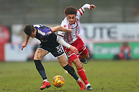 Luke Amos of Stevenage and Dan Potts of Luton Town during Stevenage vs Luton Town, Sky Bet EFL League 2 Football at the Lamex Stadium on 10th February 2018