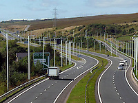 """Pictured: A completed part of the A465, Heads of the Valleys road near Merthyr Tydfil.<br /> Re: Inquest into the death of Louise Hopkins, who died after being hit by a van in Merthyr Tydfil on Bonfire Night in 2015.<br /> Ms Hopkins, 41, suffered fatal injuries after she was hit while walking away from a broken-down vehicle on the A465 between Pant and Dowlais.<br /> Members of her family paid tribute to her, calling her a """"hard working and loving mother""""."""