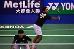 Angga PRATAMA (r) and Ricky Karanda SUWARDI of Indonesia in action while playing against Jhe-Huei LEE and Yang LEE of Chinese Taipei during the YONEX-SUNRISE Hong Kong Open Badminton Championships 2016 at the Hong Kong Coliseum on 23 November 2016 in Hong Kong, China. Photo by Marcio Rodrigo Machado / Power Sport Images