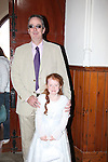 Callystown National School First Communion..Amy McGrane and Dad patrick..Pic Fran Caffrey/newsfile.ie