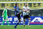 Besiktas Istambul Forward Cenk Tosun (R) fights for the ball with FC Schalke Defender Naldo (L) during the Friendly Football Matches Summer 2017 between FC Schalke 04 Vs Besiktas Istanbul at Zhuhai Sport Center Stadium on July 19, 2017 in Zhuhai, China. Photo by Marcio Rodrigo Machado / Power Sport Images