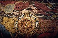 Aboriginal painting at Tjapukai Theatre Kuranda Australia