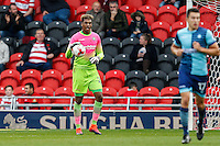 Jamal Blackman of Wycombe Wanderers during the Sky Bet League 2 match between Doncaster Rovers and Wycombe Wanderers at the Keepmoat Stadium, Doncaster, England on 29 October 2016. Photo by David Horn.