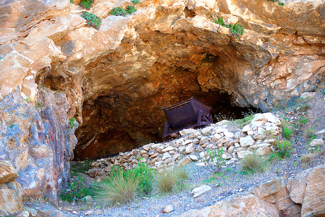 Old Emery mine on Naxos, Greek Cyclades Islands