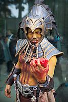 Aztec Priest Holding Bloody Heart of Human Sacrifice, Emerald City Comicon 2017, Seattle, WA, USA.