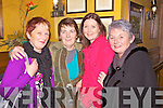 Pat Cahill, Kathleen O'Connell, Denise O'Rourke and Betty Kelly enjoying Little Christmas last Thursday night in Leen's Hotel, Abbeyfeale .Kathleen O'Connell: