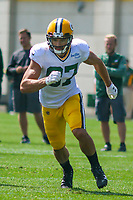 Green Bay Packers wide receiver Jeff Janis (87) during a training camp practice on August 29, 2017 at Ray Nitschke Field in Green Bay, Wisconsin.   (Brad Krause/Krause Sports Photography)