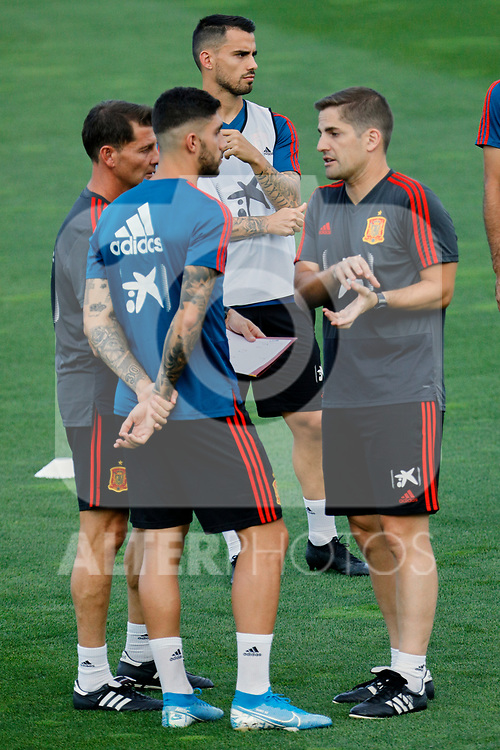 Robert Moreno and Gaya during the Trainee Session at Ciudad del Futbol in Las Rozas, Spain. September 02, 2019. (ALTERPHOTOS/A. Perez Meca)