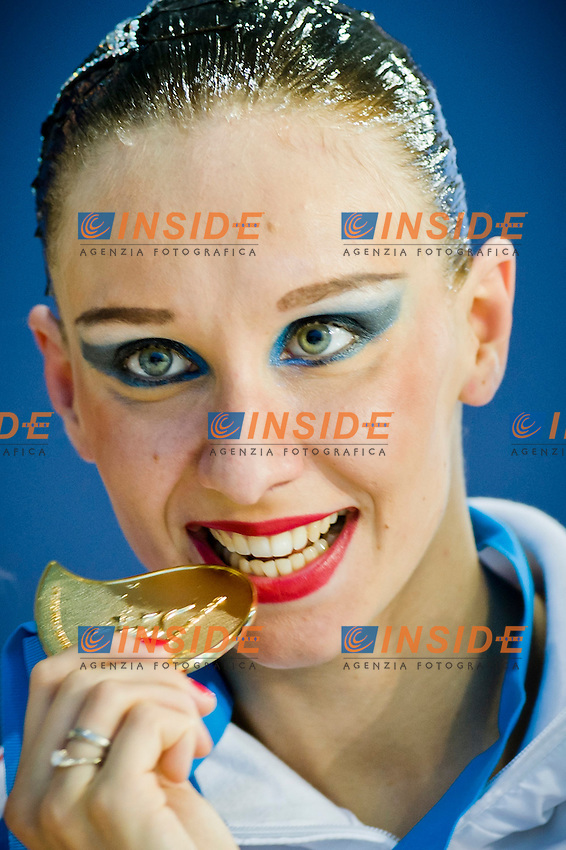 Natalia Ischenko (RUS) gold medal..European Synchronised Swimming Championships Eindhoven 2012..Solo Free Routine - Finals ..Eindhoven (Netherlands), 26/05/2012, Pieter Van Den Hoogenband Swimming Stadium..ph. Giorgio Perottino / Deepbluemedia