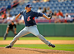 14 March 2008: Cleveland Indians' pitcher Rick Bauer on the mound during a Spring Training game against the Washington Nationals at Space Coast Stadium, in Viera, Florida. The Nationals defeated the visiting Indians 8-4 as both teams fielded split squads home and away...Mandatory Photo Credit: Ed Wolfstein Photo