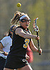 Nikki Sliwak #34 of Wantagh shoots on goal during a Nassau County varsity girls lacrosse game against host Cold Spring Harbor High School on Thursday, Apr. 21, 2016. She scored the game-winning goal with 12.8 seconds remaining to propel Wantagh to an 11-10 victory.