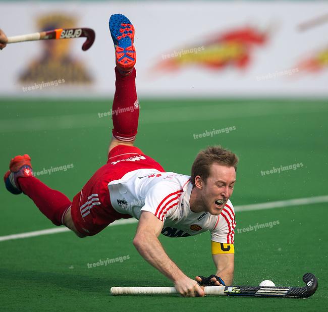 Mens Hockey World league Final Delhi 2014<br /> Day 3 England v New Zealand12-01-2014<br /> <br /> <br /> Photo: Grant Treeby / treebyimages