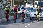 Ivan Basso, Alberto Contador, Nir Barkat and Sylvan Adams ride through the city of Jerusalem. The Big Start of the Giro d'Italia 2017 running from the 4th to 27th May 2018, was presented today in Jerusalem, Israel 18th September 2017.<br /> Picture: RCS | Cyclefile<br /> <br /> <br /> All photos usage must carry mandatory copyright credit (&copy; Cyclefile | RCS)