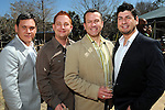 From left: Saul Punales, Billy Whitaker, Billy Underwood and Danny Villarreal at the Beastly Brunch at the Houston Zoo Sunday Feb. 28,2010. (Dave Rossman Photo)