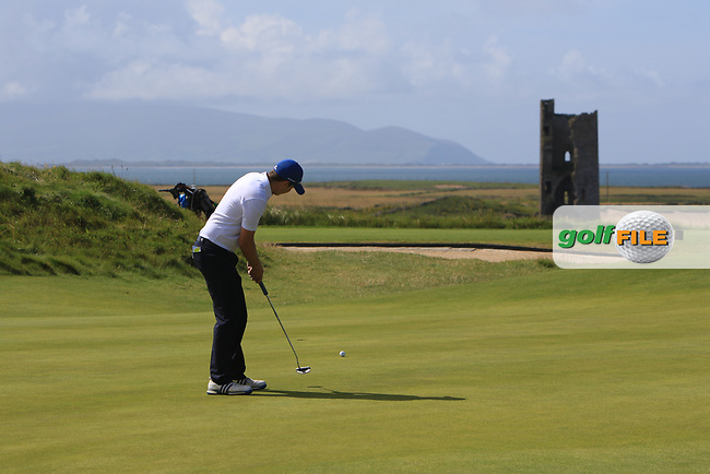 Andrew McCormack (Castletroy) on the 7th green during the Munster Final of the AIG Barton Shield at Tralee Golf Club, Tralee, Co Kerry. 12/08/2017<br /> Picture: Golffile   Thos Caffrey<br /> <br /> <br /> All photo usage must carry mandatory copyright credit     (&copy; Golffile   Thos Caffrey)