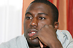 14 March 2008: Josmer (Jozy) Altidore. The United States U-23 Men's National Team held media interviews at the Doubletree Guest Suites Tampa Bay in Tampa, FL during the 2008 CONCACAF's Men's Olympic Qualifying Tournament.